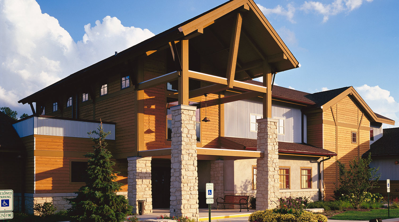 Boughton Ridge Golf Clubhouse Bolingbrook Park District exterior