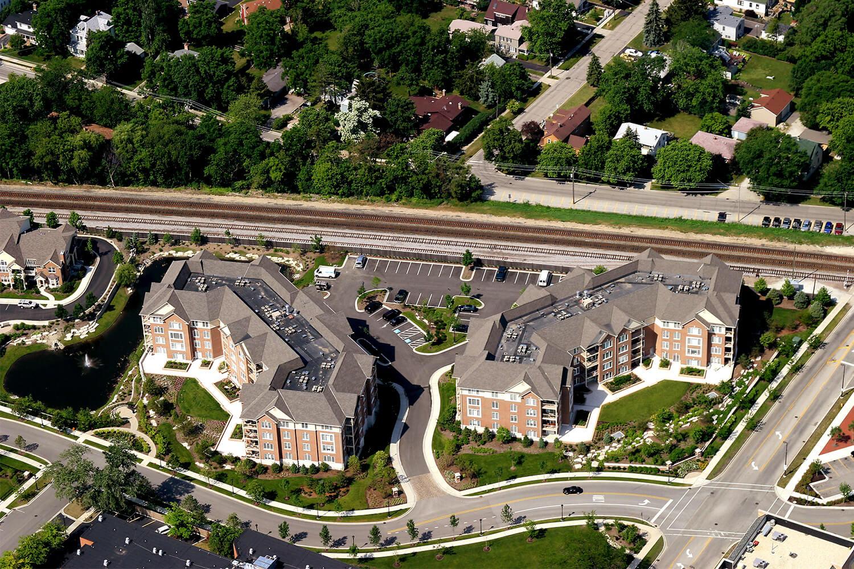 Deerfield Condominiums aerial 1