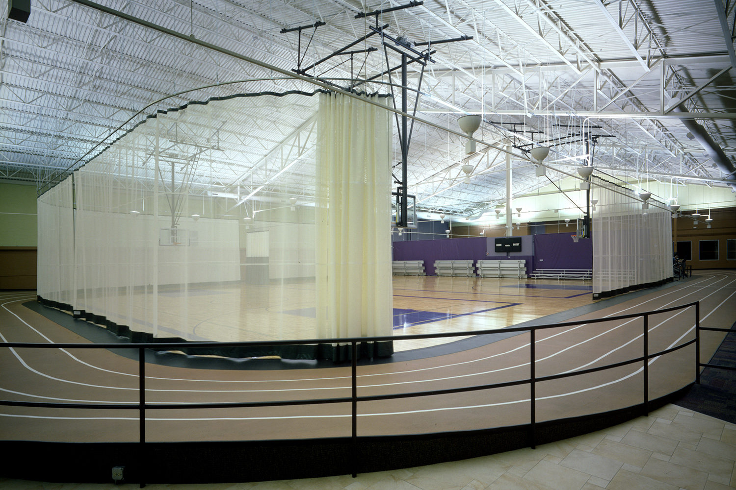 Deerfield Park District Sachs Recreation Center track and basketball court