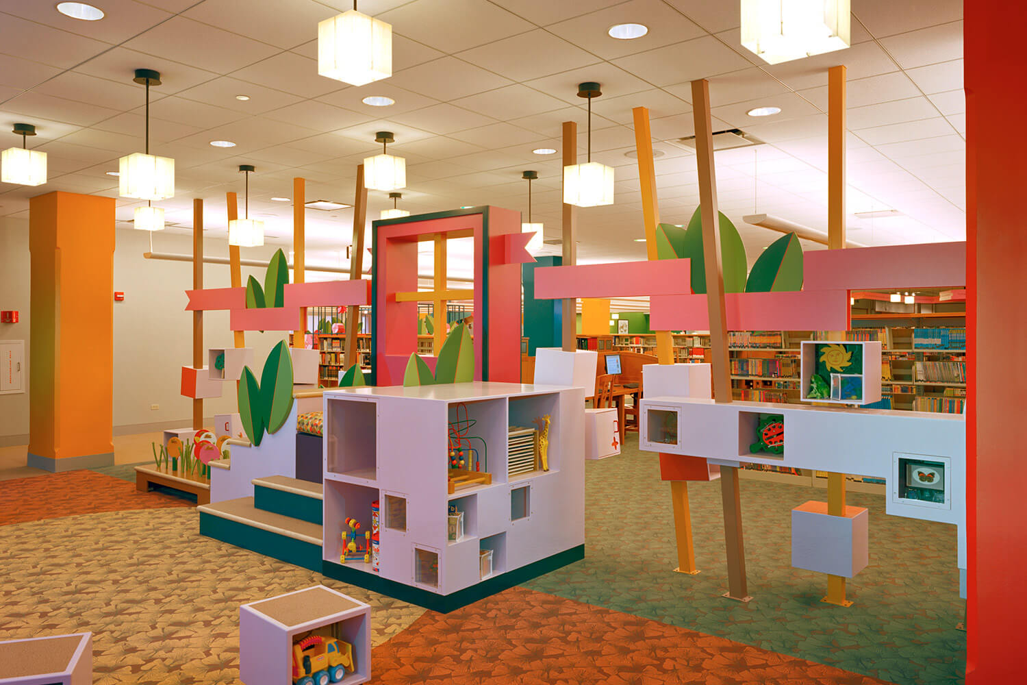 Evanston Public Library Renovation children's section 13