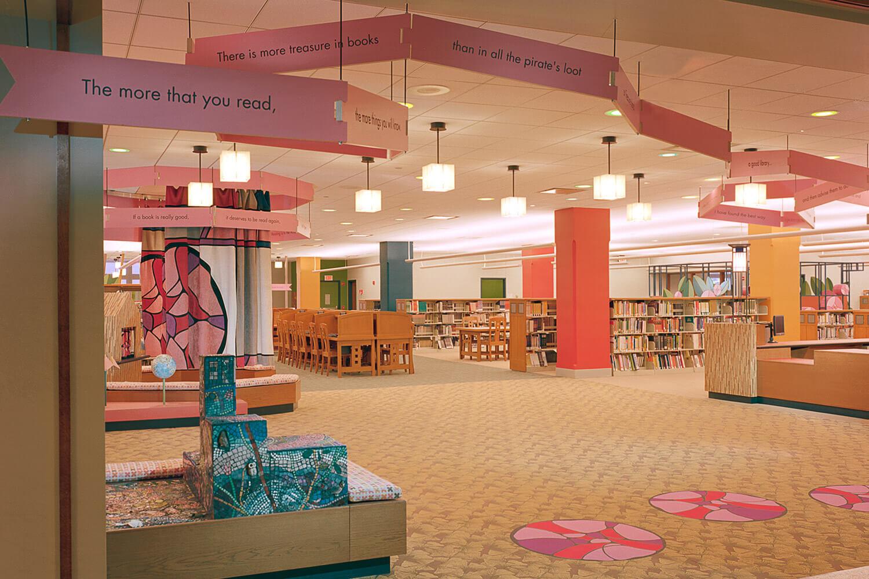 Evanston Public Library Renovation children's section