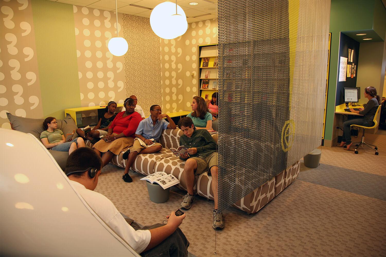 Evanston Public Library Renovation couches 2