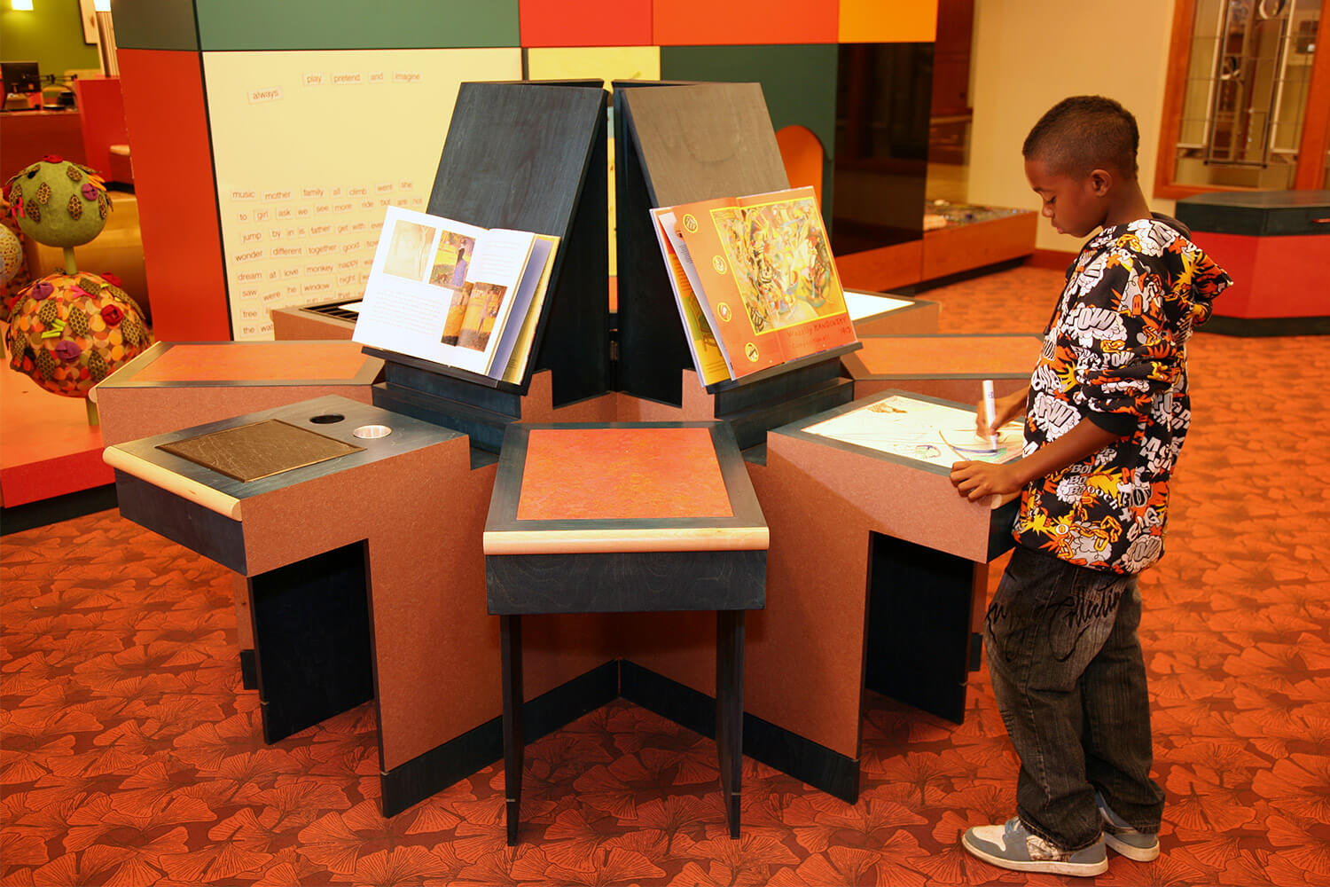 Evanston Public Library Renovation drawing station