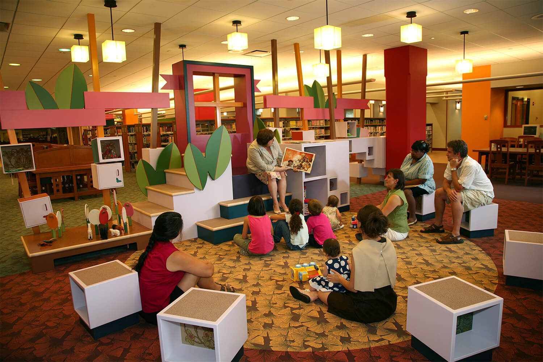 Evanston Public Library Renovation story time 2