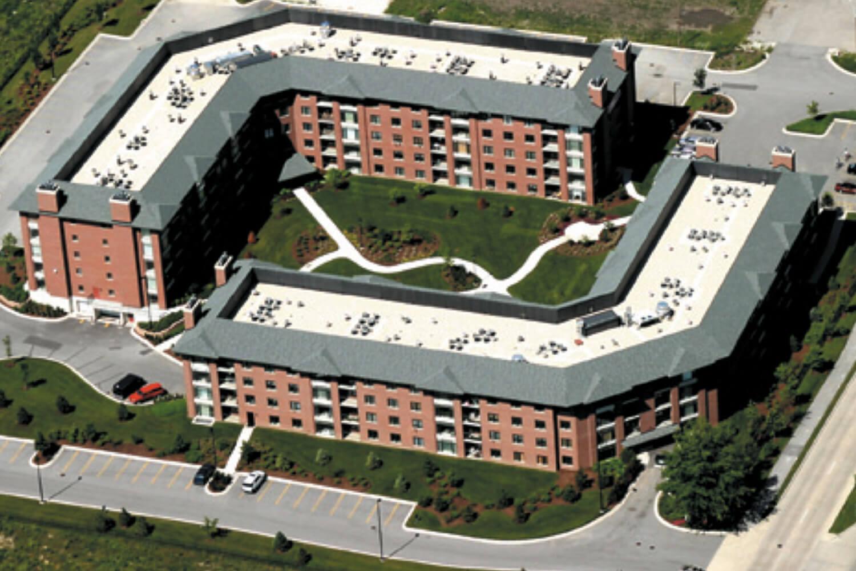 Fountain Square Condominiums aerial