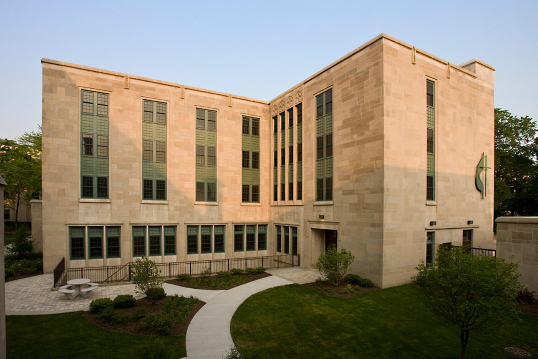 Garrett-Evangelical Theological Seminary_ Loder Hall exterior 2
