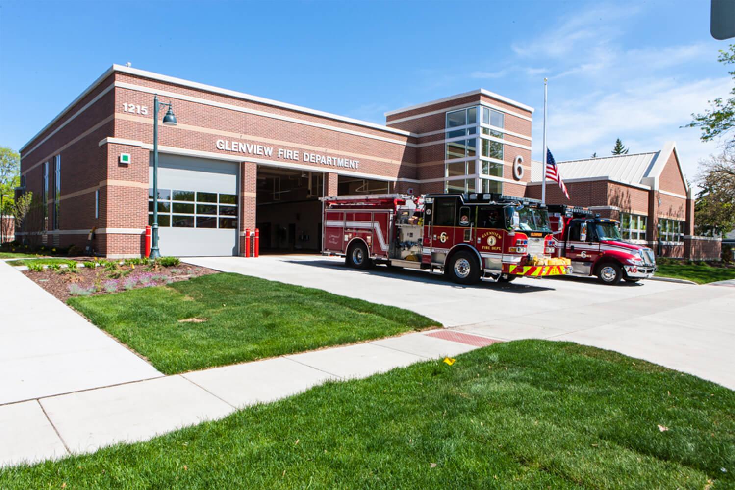 Glenview Fire Station Headquarters exterior 1