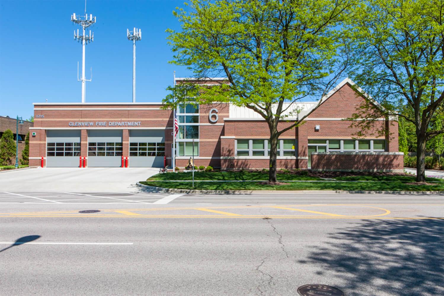 Glenview Fire Station Headquarters exterior 2