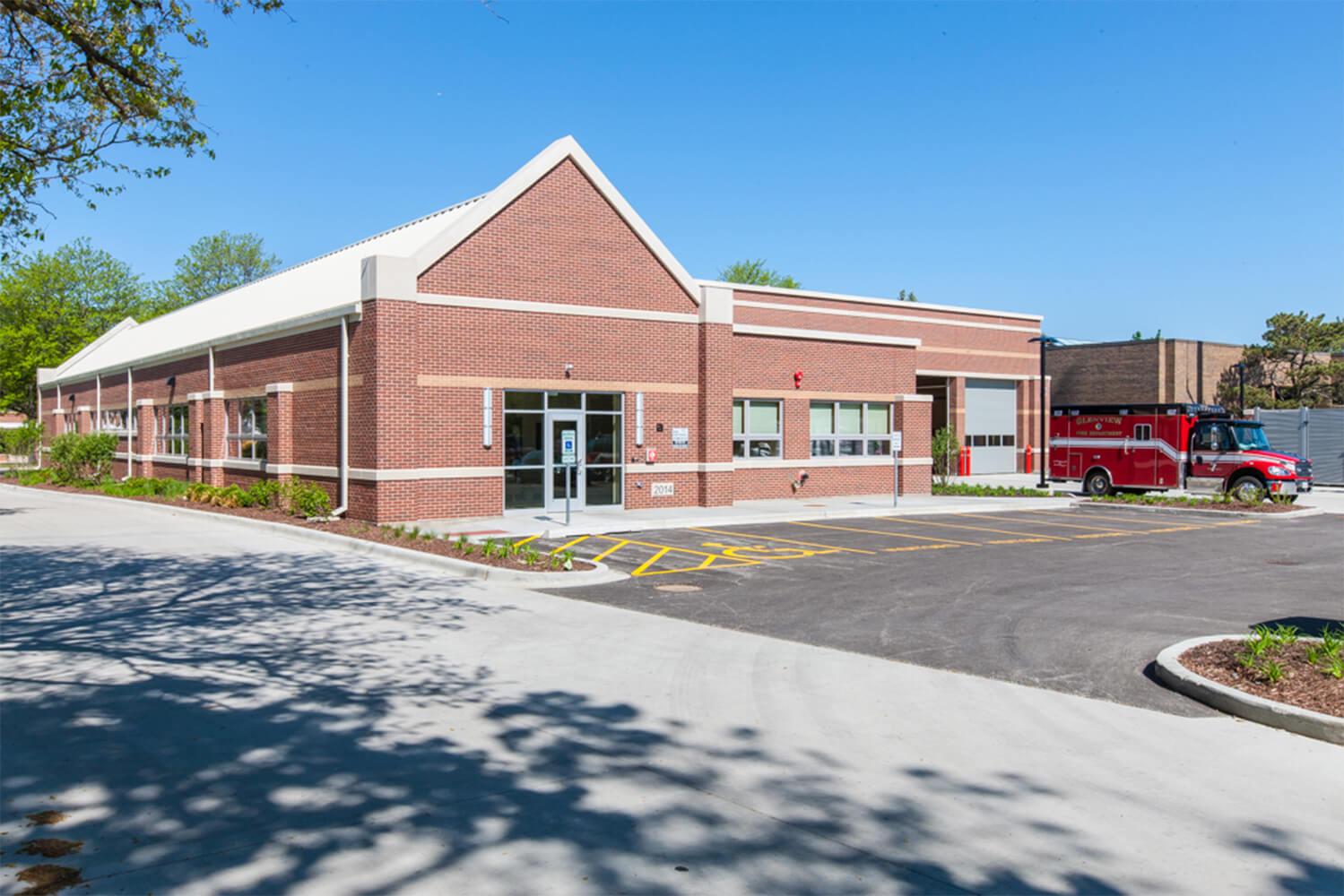 Glenview Fire Station Headquarters exterior 3