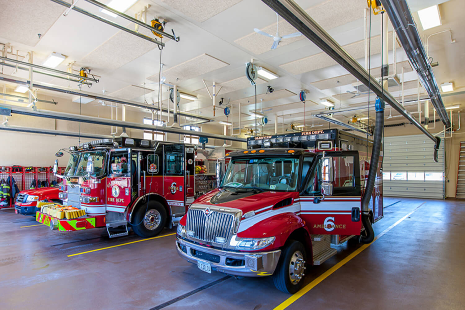 Glenview Fire Station Headquarters trucks 1