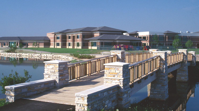 Glenview Park District Park Center bridge