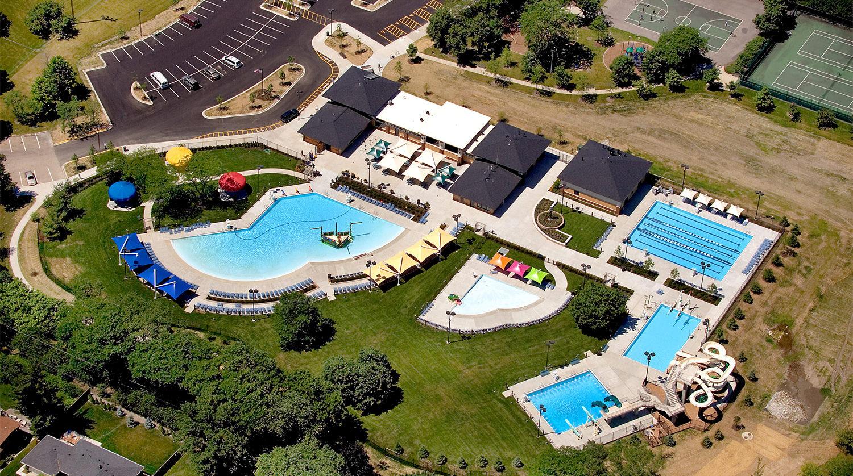 Glenview Park District Roosevelt Aquatic Center aerial 6