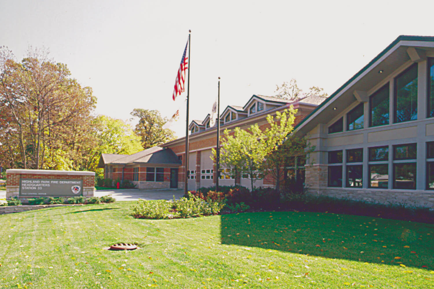 Highland Park Fire Station and Headquarters exterior