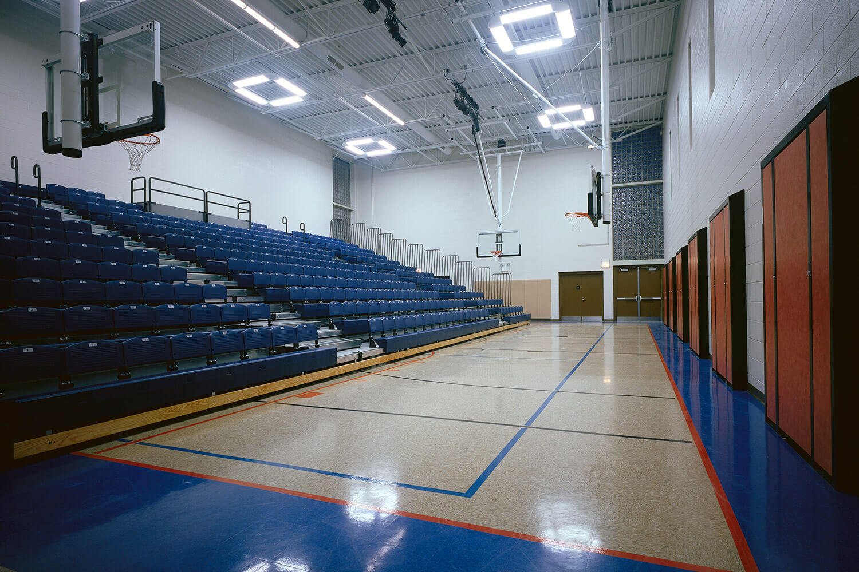 Holy Family Lutheran School bastketball court