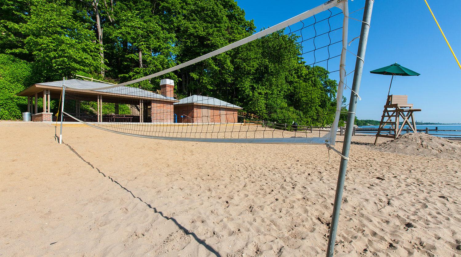 Lake Bluff Beach Vollyball Net