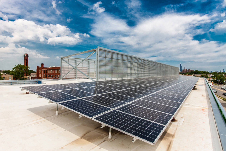 Legacy Charter School solar panels