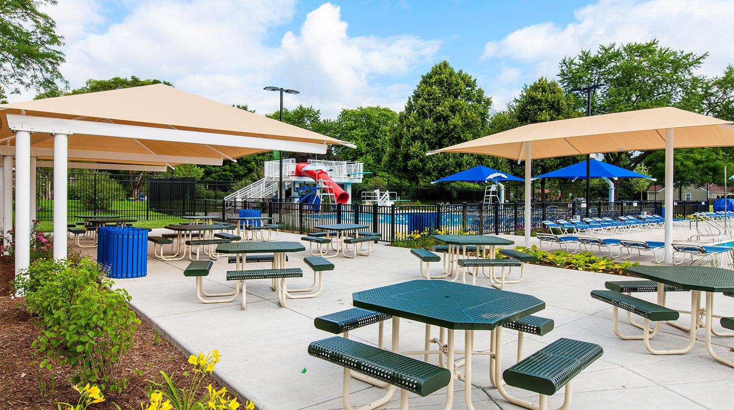 Mitchell Pool Sitting Area