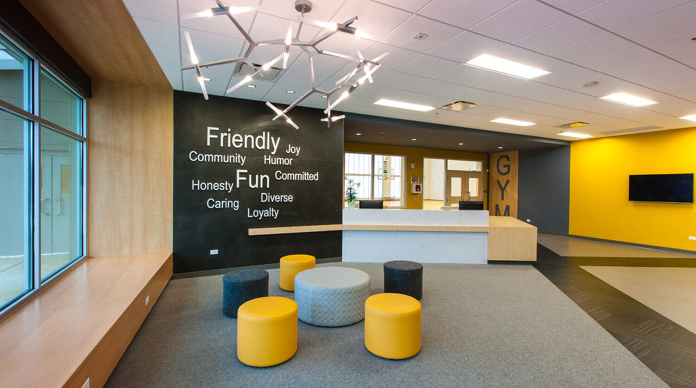 Mundelein Dunbar Recreation Center lobby