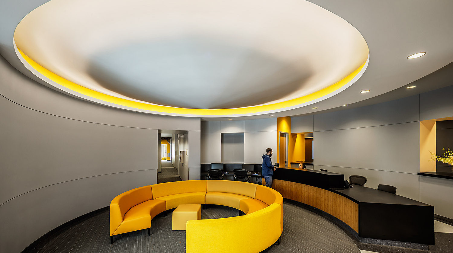 North Park University Johnson Center office lobby