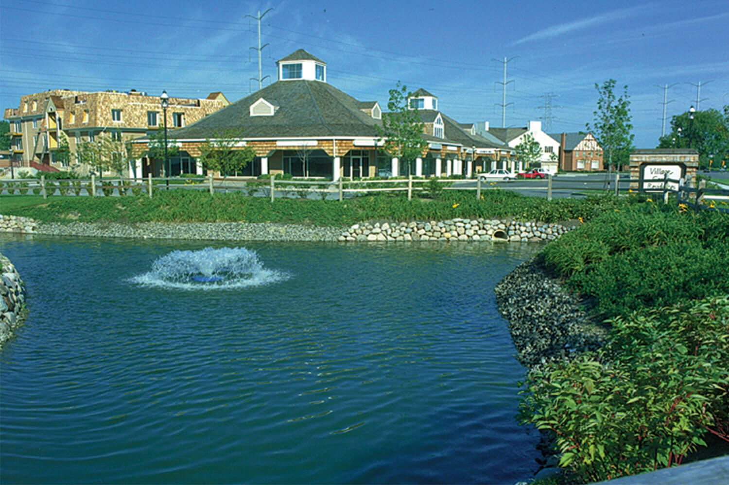 Northfield Village Center exterior-with-lake