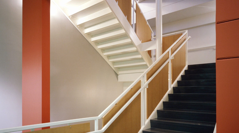 Northwestern University Frances Searle Building staircase