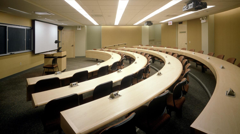 Northwestern University Kellogg Graduate School of Management lecture hall