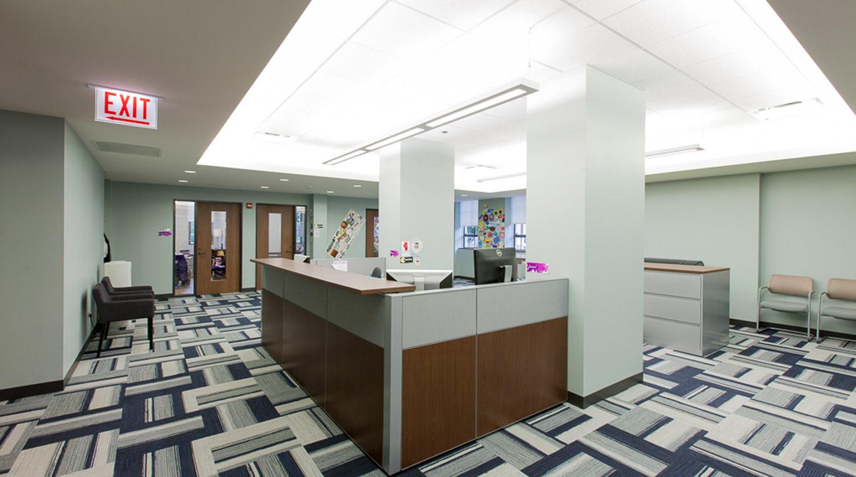 Northwestern University_ Seabury Hall Lobby office