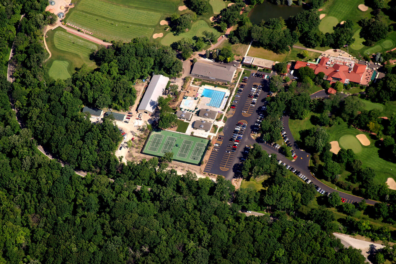 Oak Park Country Club aerial