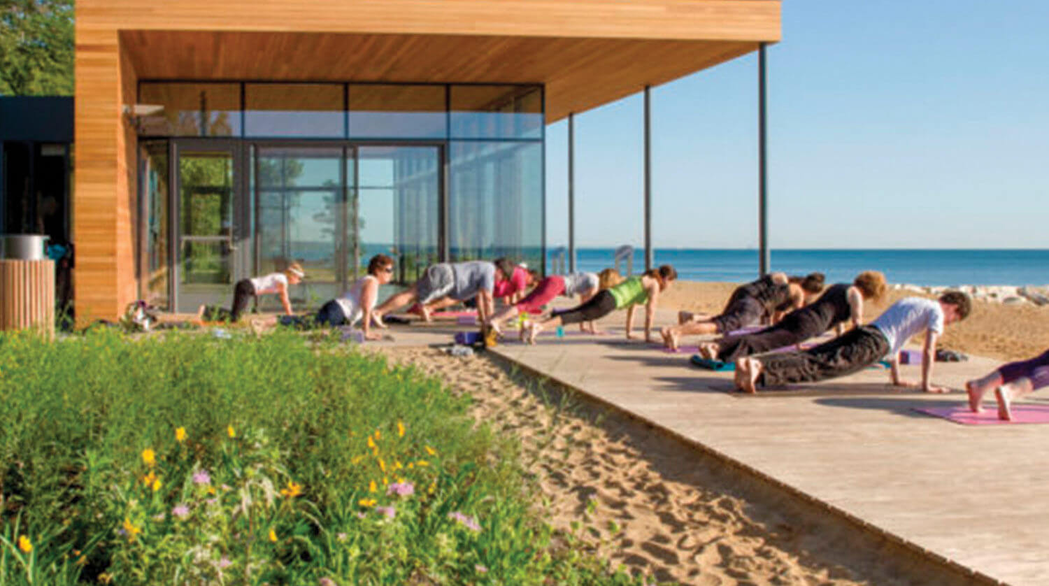 Park District of Highland Park – Rosewood Beach Development yoga