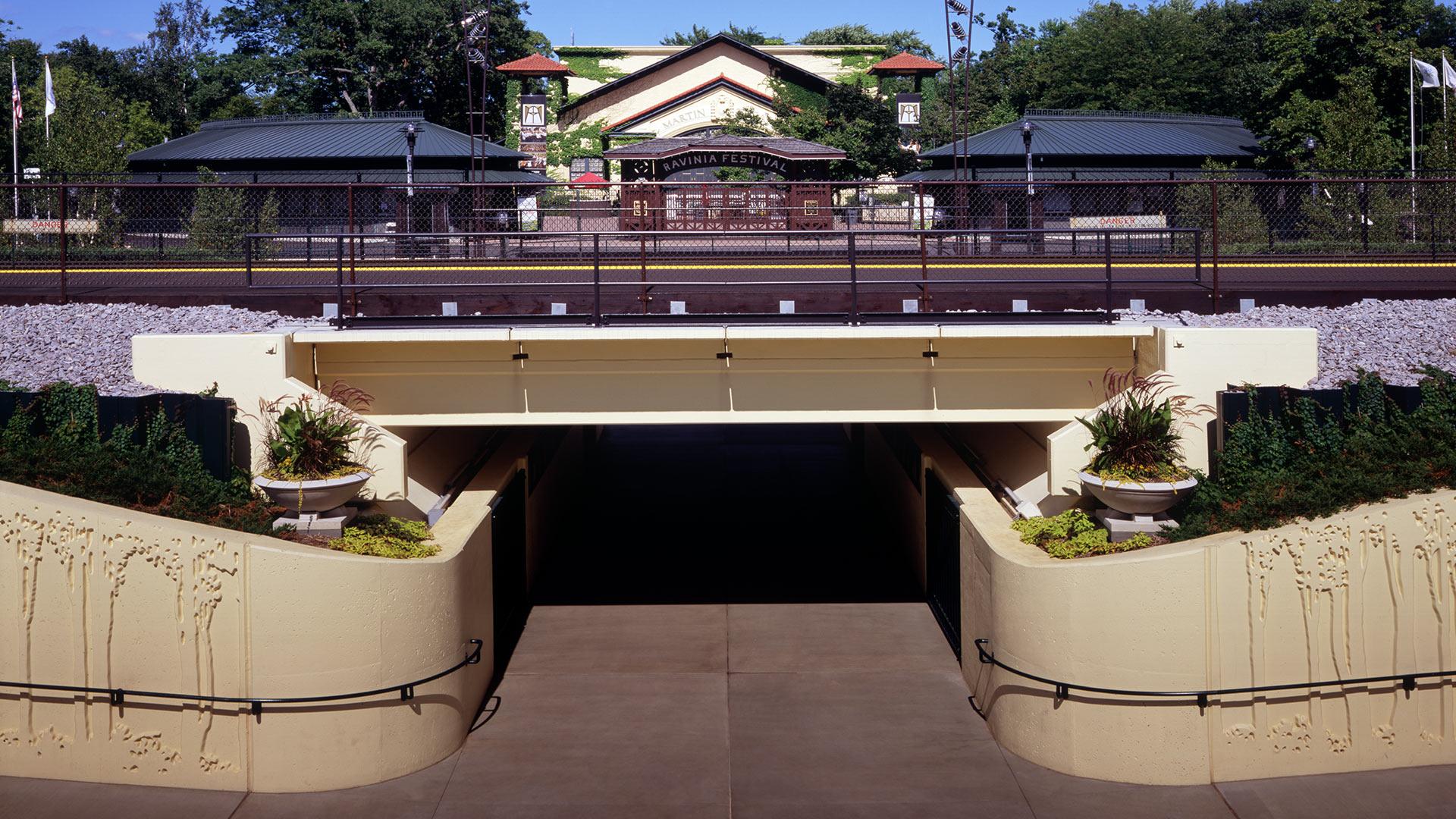 Ravinia Festival: Railroad Bridge and Pedestrian Underpass