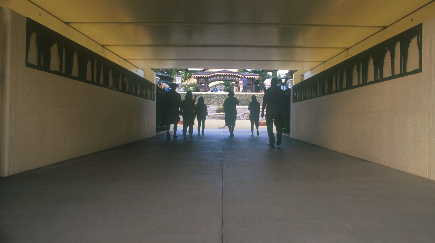 Ravinia Festival_ Railroad Bridge and Pedestrian Underpass tunnel