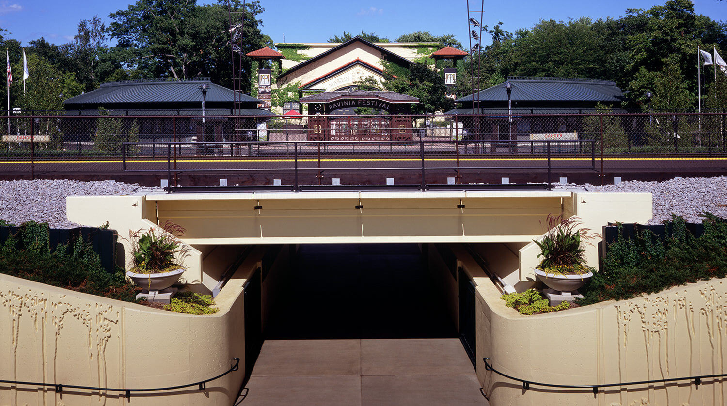 Ravinia Festival_ Railroad Bridge and Pedestrian Underpass underpass