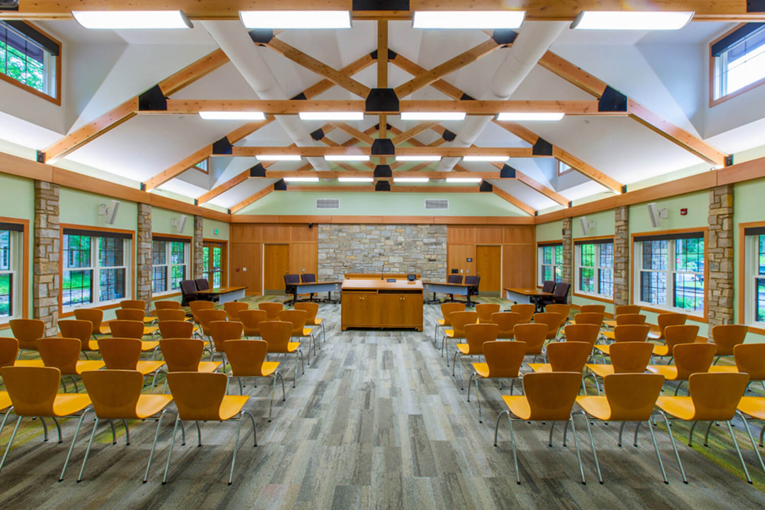 Riverwoods Village Hall interior