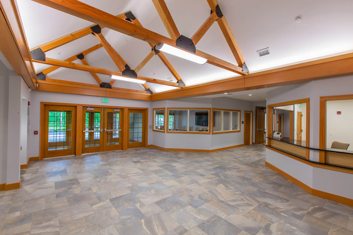 Riverwoods Village Hall lobby