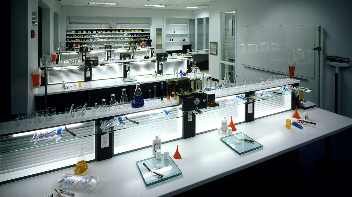 Robert Morris University Medical Training Facility pharmacy technical lab