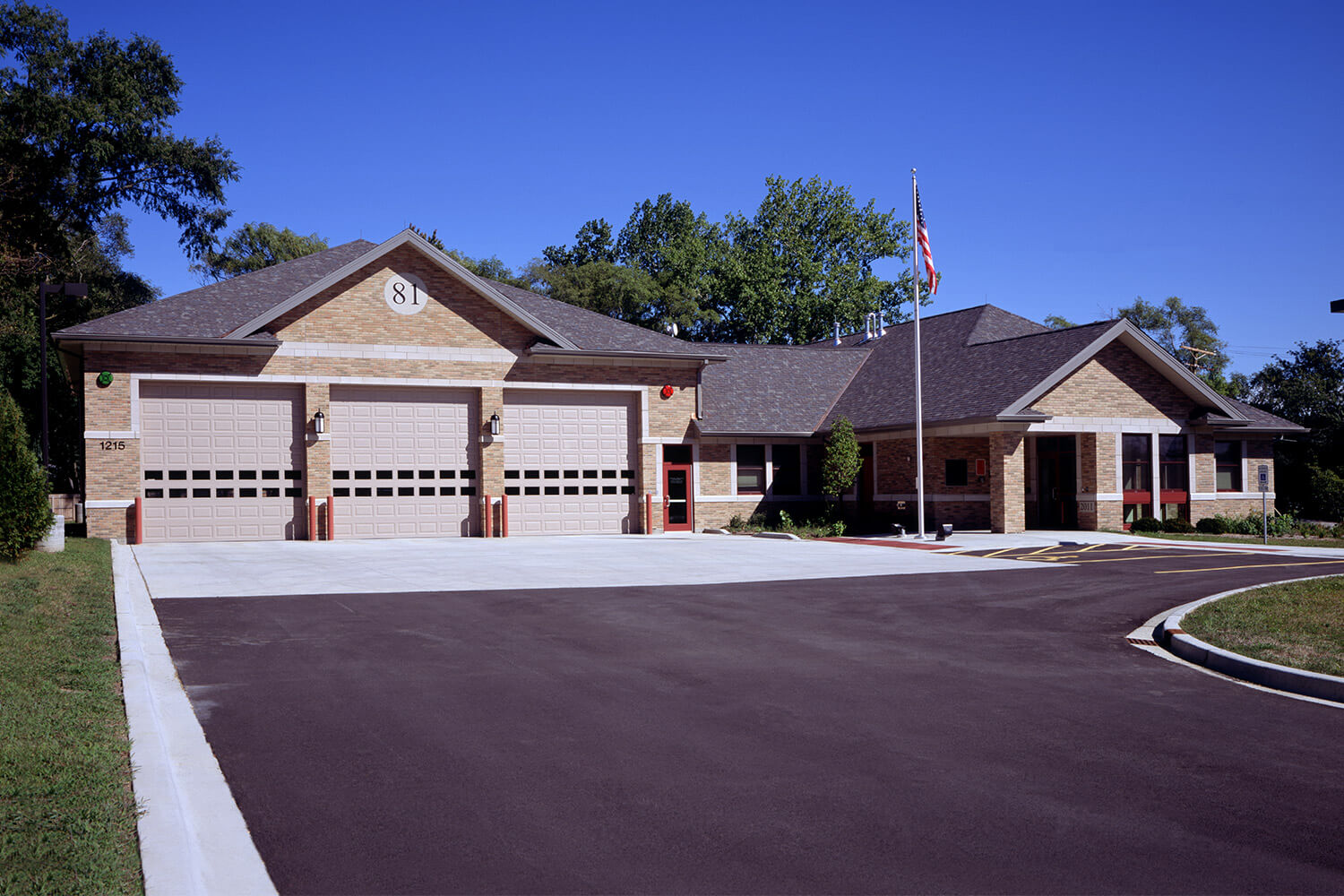Village of Palatine Fire Station 81 exterior