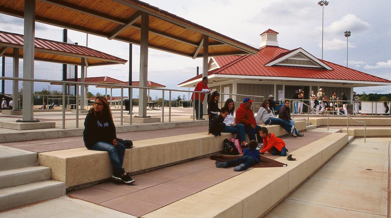 Waukegan Park District Outdoor Sports Complex benches