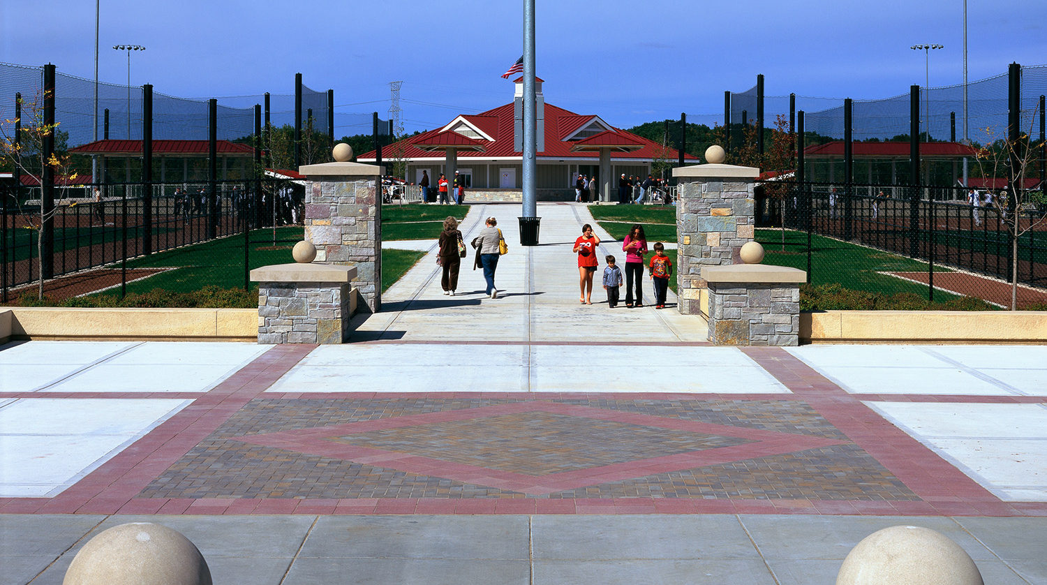 Waukegan Park District Outdoor Sports Complex walkway