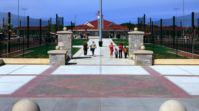 Waukegan Park District Outdoor Sports Complex walkway