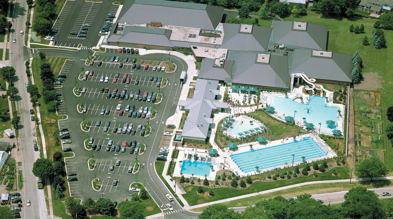 Wilmette Park District Family Aquatic Center aerial