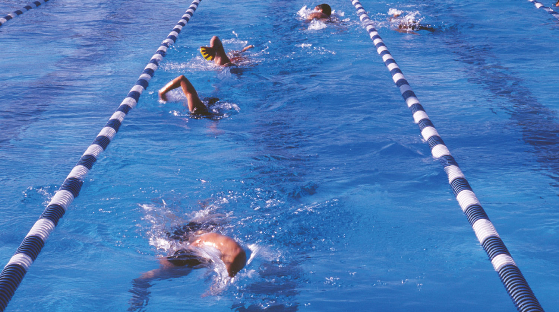 Wilmette Park District Family Aquatic Center swimmers