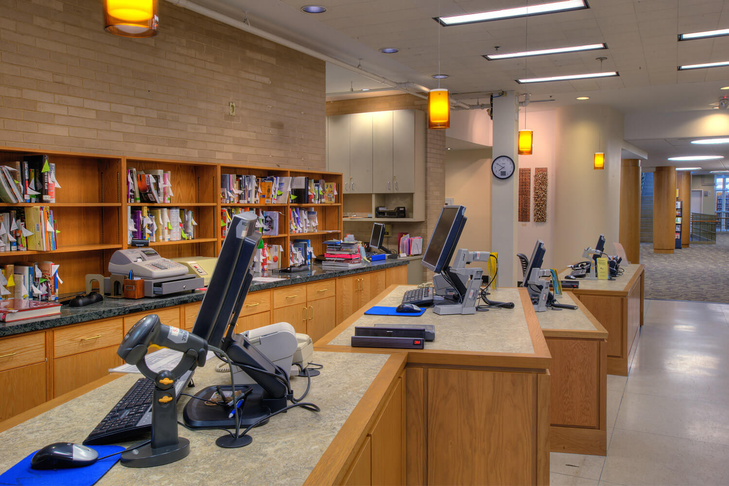 Wilmette Public Library District Renovation check-out desks