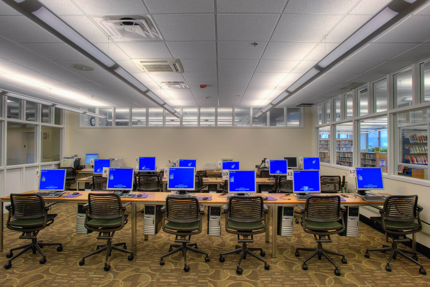 Wilmette Public Library District Renovation computer lab 2