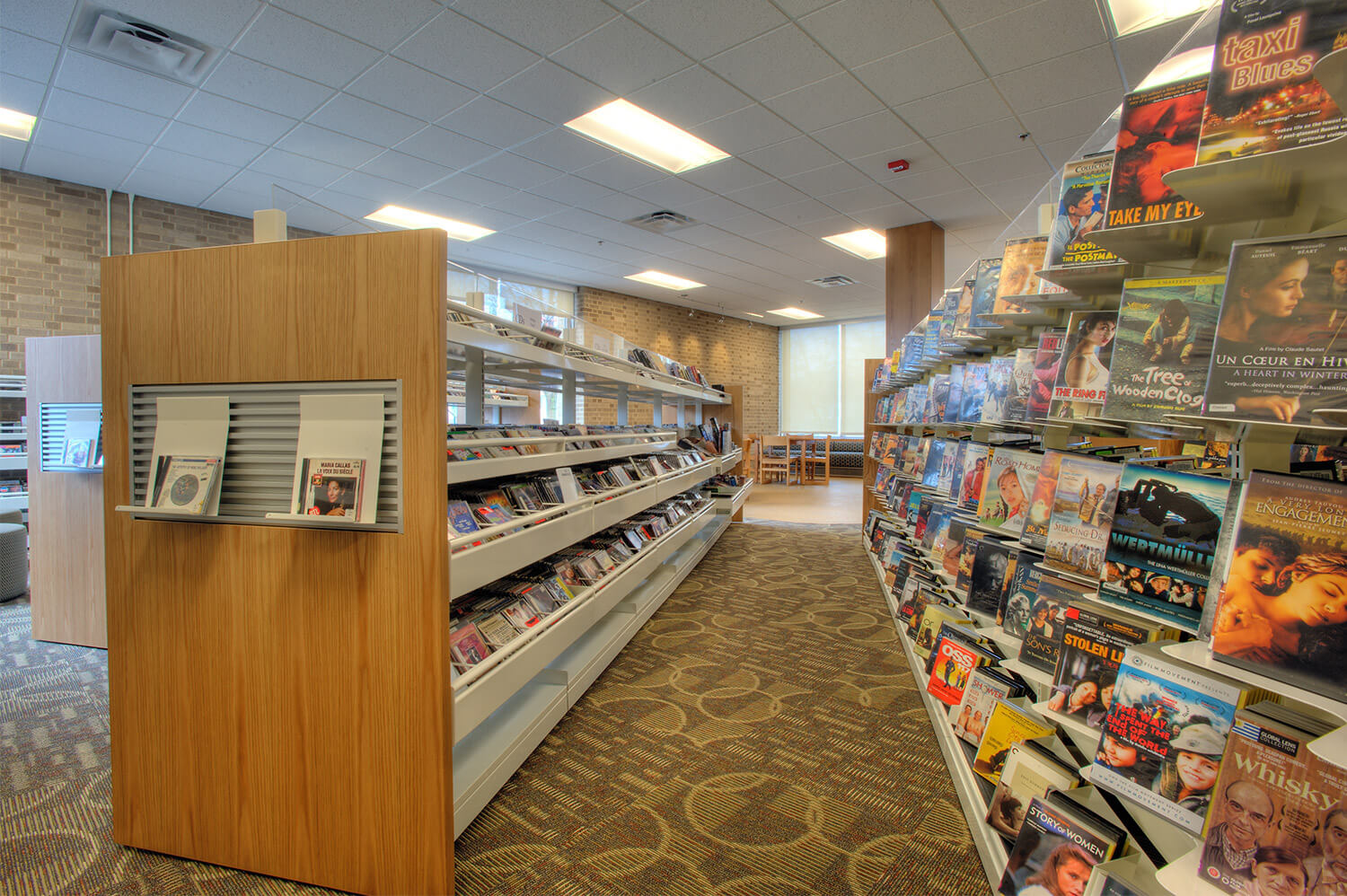 Wilmette Public Library District Renovation shelves 2