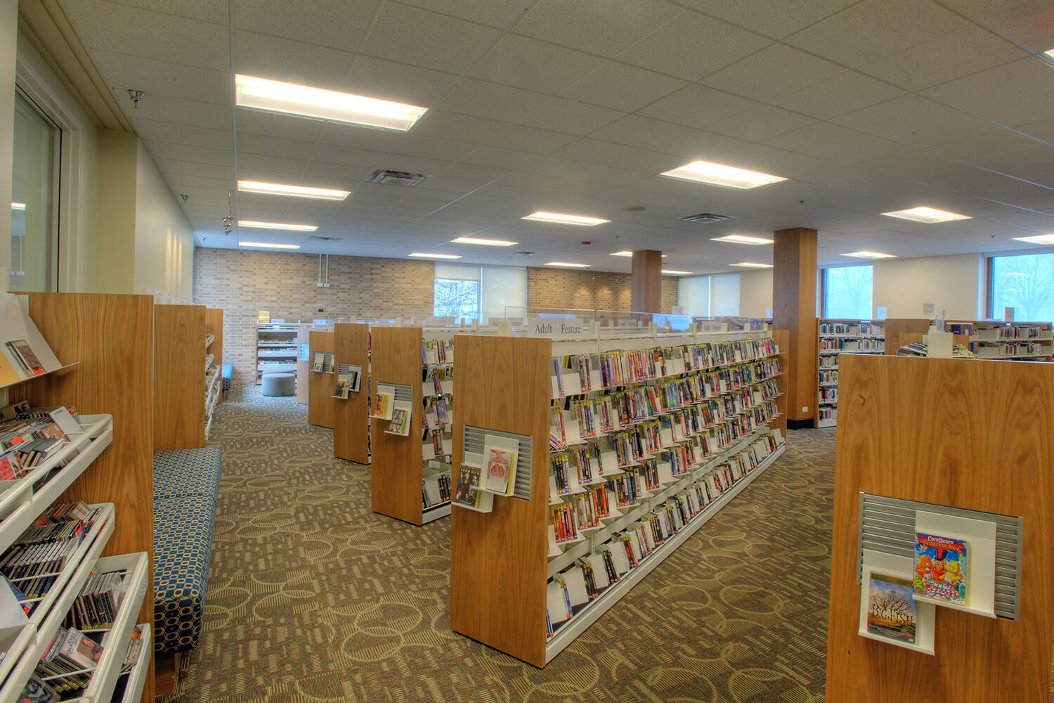 Wilmette Public Library District Renovation shelves