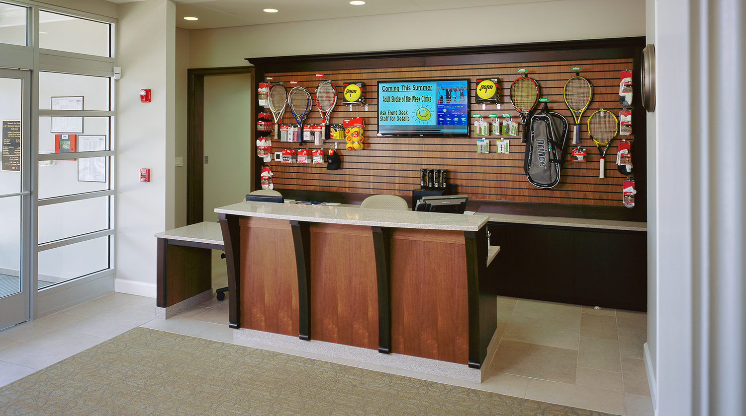 Winnetka Park District A.C. Nielsen Tennis Center front desk