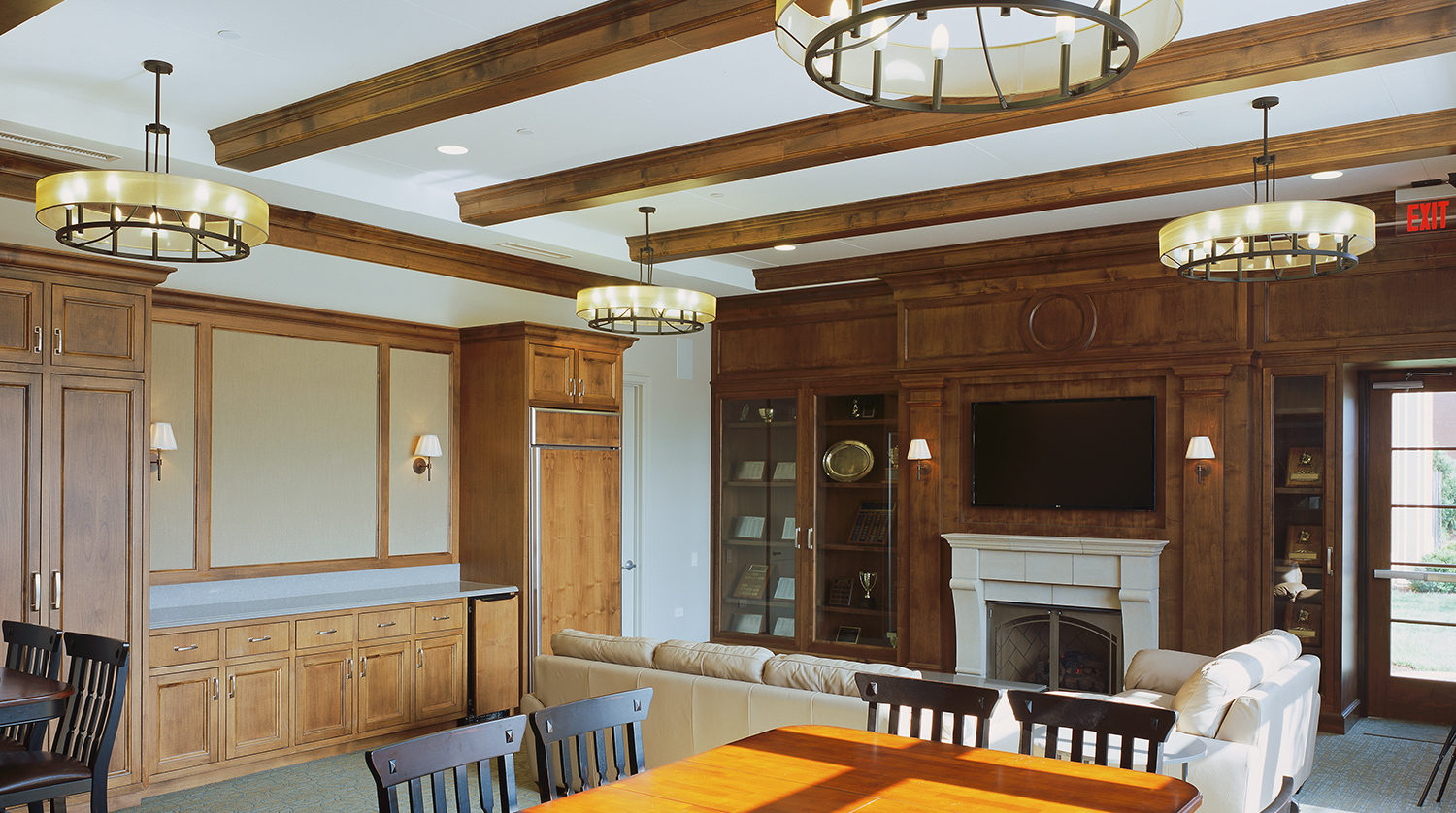 Winnetka Park District A.C. Nielsen Tennis Center living room