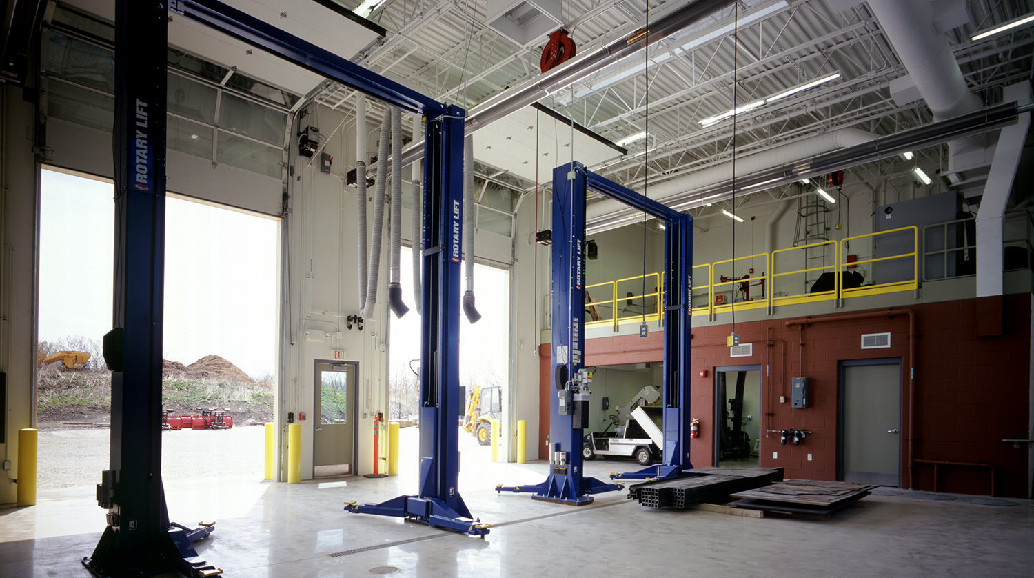 Winnetka Park District Maintenance Facility interior
