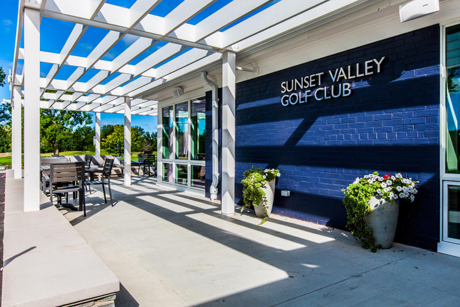 Park District of Highland Park – Sunset Valley Golf Clubhouse exterior sign