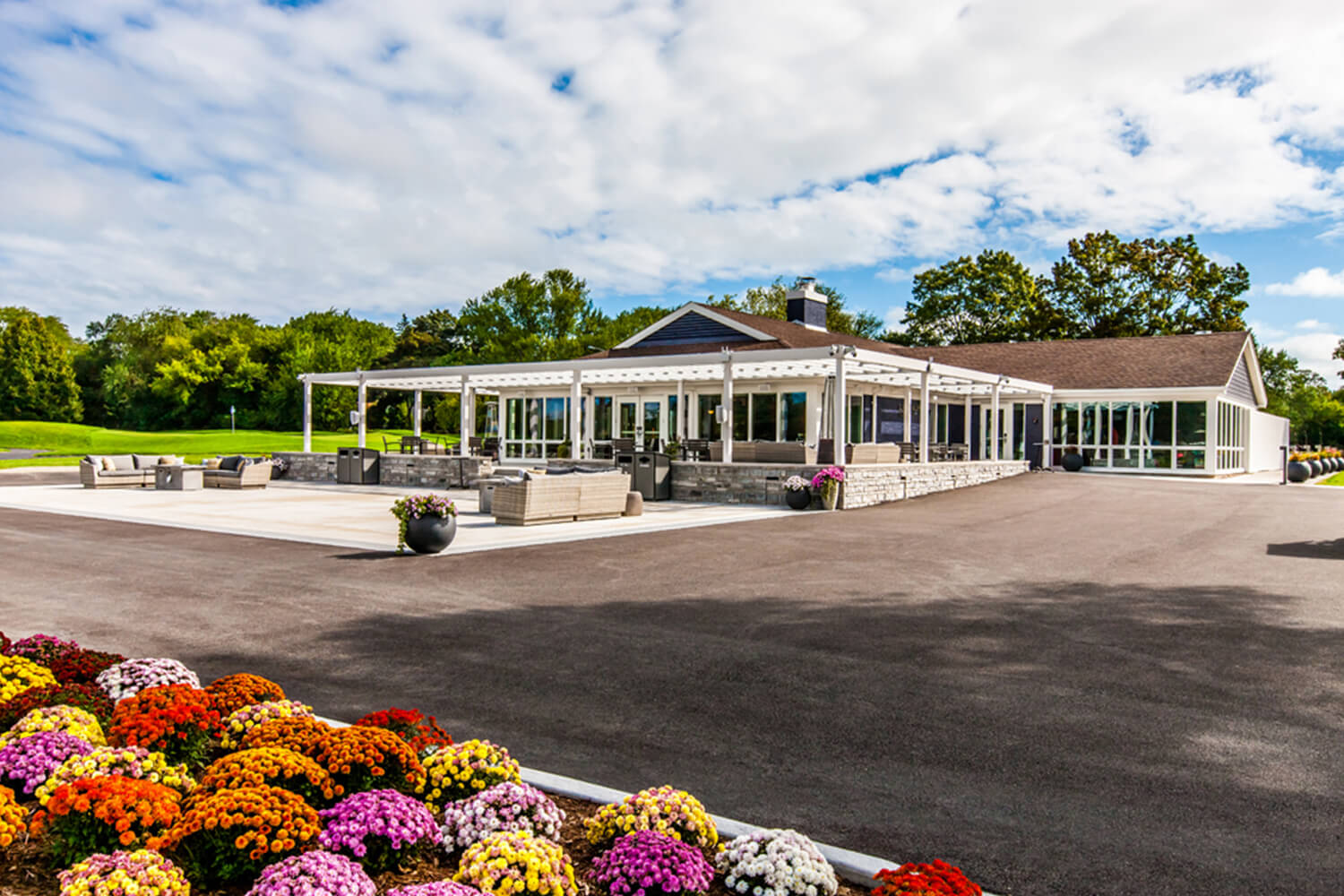 Park District of Highland Park – Sunset Valley Golf Clubhouse exterior
